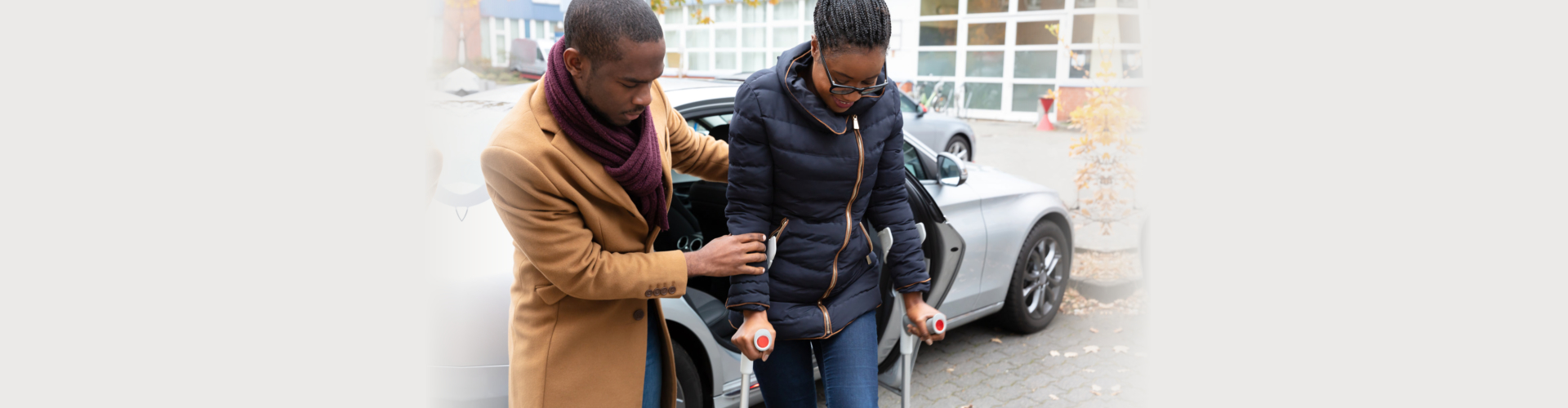 Young African Man Helping woman